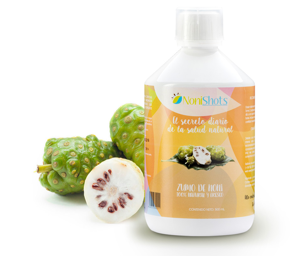 Nonishots by Brahmavitta, pure noni juice 100% ecological